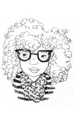'Curly girl' art by Sharee Miller.