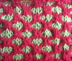 #TheIvy Diamonds knitting stitches
