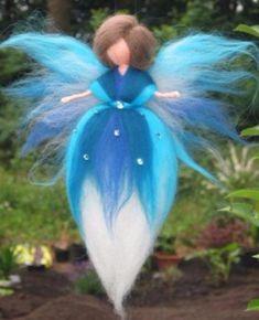 This item is unavailable Yarn Dolls, Felt Dolls, Red Wall Art, Felt Angel, Christmas Craft Fair, Needle Felting Tutorials, Felt Fairy, Felt Decorations, Fairy Art