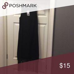 Sexy Black Fringe Dress Knee Length Black Fringe Dress Forever 21 Dresses Midi