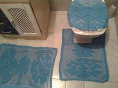 Jogo banheiro azul