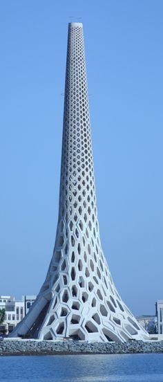KAUST Breakwater Beacon, King Abdullah University of Science and Technology, Jeddah, Saudi Arabia designed by UAP Principal, Daniel Tobin, Matthew Tobin and Jamie Perrow