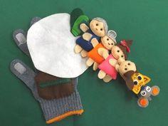「大きなかぶ」のお話し手袋(手袋シアター)です。おじいさんが大きなかぶを「うんとこしょ、どっこいしょ」ぬけないので、おばあさん・孫娘・犬・ネコ・ネズミが引っぱ...|ハンドメイド、手作り、手仕事品の通販・販売・購入ならCreema。