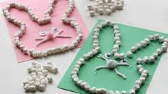 11 Adorable Easter Crafts for Kids: Celebrate the holiday with these creative projects for the kids in your life. Great for teachers as well! - Crafts All Over Marshmallow Crafts, Marshmallow Bunny, Easter Art, Easter Bunny, Easter Decor, Easter Centerpiece, Hoppy Easter, Easter Table, Easter Eggs