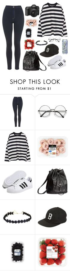 """Picnic with Gongchan // B1A4"" by berrie95 on Polyvore featuring Topshop, adidas Originals, H&M, Brixton, B1A4, gongchan and kpopoutfits"