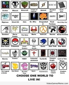 Choose one world to Live in - http://www.videogamesmeme.com/gamers/choose-one-world-to-live-in/
