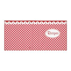 Red Gingham Recipe Binder