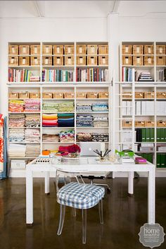Diane Bergeron - Material girl: an interior designer's colourful office on Home Beautiful
