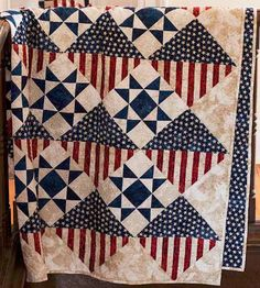 This quilt is not only patriotic, but it is easy to make! It's the perfect size for a Quilt of Valor and meets the guidelines established by the Quilts of Valor Foundation. Watch the how-to video on Craft Daily
