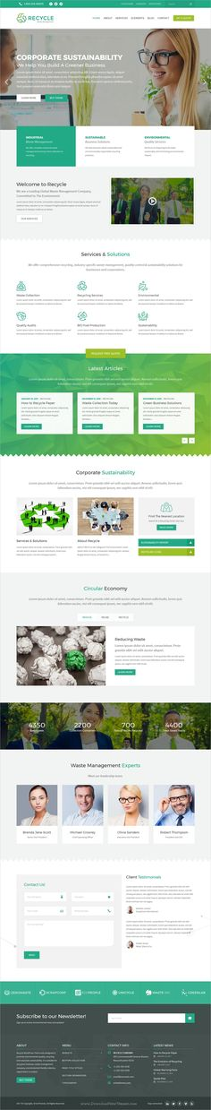Recycle is a highly customizable #WordPress theme for any green business, #environmental organization, #ecological project, waste management company and #recycling center website download now➩ https://themeforest.net/item/recycle-environmental-recycling-wordpress-theme/19347643?ref=Datasata