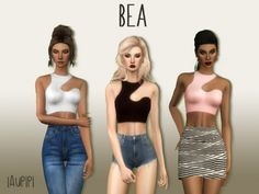Laupipi: Bea top • Sims 4 Downloads  Check more at http://sims4downloads.net/laupipi-bea-top/