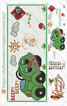 Cross Stitch Baby, Cross Stitch Charts, Cross Stitch Patterns, Cross Stitching, Cross Stitch Embroidery, Alpha Patterns, Plastic Canvas Patterns, Craft Stick Crafts, Embroidery Designs