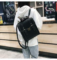 823317a33e6d Aliexpress.com : Buy Vintage Women Backpack High Quality Leather Brand  Female Black Shoulder Bag
