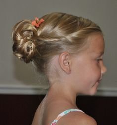 Cute hair. Thicker hair means more curls and hair to play with in the back.