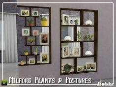 mutske's Milford Plants and Pictures The Sims 2, The Sims 4 Packs, Sims Four, Sims Cc, Mods Sims, Sims 4 Game Mods, Sims 4 Cc Furniture Living Rooms, Sims 4 Kitchen, Muebles Sims 4 Cc