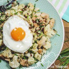 Gerösteter Blumenkohl mit Ei - Essen ohne Kohlenhydrate