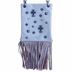 New Trending Bumbags: The Chic Bag - Biker Babe 4-way Bag - Crosses, Studs, Crystals, Fleur de Lis and Stars with Fringe Base (White; 6x8x1in) - BUY 2 GET A 3rd BAG FREE!. The Chic Bag – Biker Babe 4-way Bag – Crosses, Studs, Crystals, Fleur de Lis and Stars with Fringe Base (White; 6x8x1in) – BUY 2 GET A 3rd BAG FREE!  Special Offer: $39.95  166 Reviews The Chic Bag designs and manufactures innovative cross-body designer handbags...