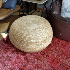 Puff de yute y algodón 70 cm