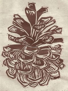 """Pine Cone"" by Amanda Gordon Miller of edamamepress"
