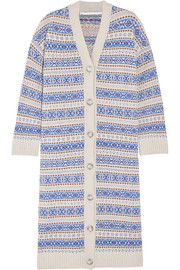 Shop on-sale Intarsia-knit wool cardigan. Browse other discount designer Heavy Knit & more luxury fashion pieces at THE OUTNET Fair Isle Pattern, Wool Cardigan, Top Designer Brands, Stay Warm, Stella Mccartney, Fashion Online, Knitwear, Luxury Fashion, Knitting