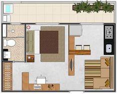 Planos de casas modernas de 1 dormitorio #fachadasmodernassobrado #Casasminimalistas #casasmodernasplanosde