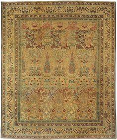 Antique Kerman Persian Rug 3416 Main Image - By Nazmiyal