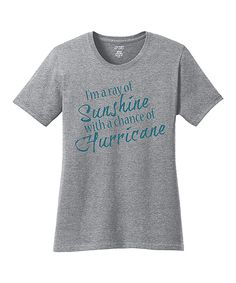 Another great find on #zulily! TKO tees Heather Gray 'Chance Of Hurricane' Tee by TKO tees #zulilyfinds
