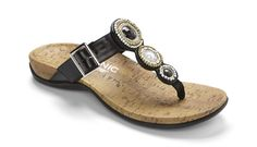 f614d4d7e468e The Vionic Adelie is an adjustable t strap sandal that features Orthaheel  Orthotic Support Technology for all day support and comfort.