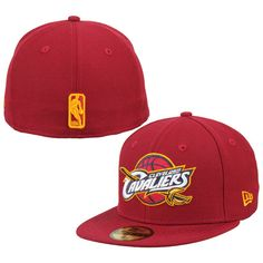 * Mens Cleveland Cavaliers New Era Red Team Logo 59FIFTY Fitted Hat, Your Price: $34.99