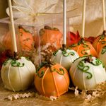 Pumpkin cake pops....