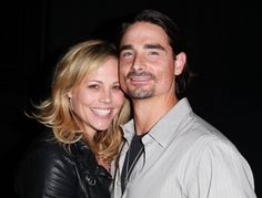 Actress Kristin Richardson (L) and husband singer/actor Kevin Richardson attend the Los Angeles premiere of 'The Casserole Club'