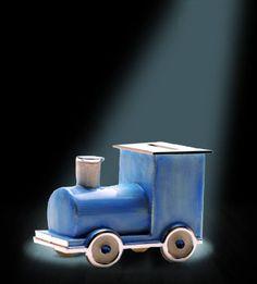 Piggy Bank Train Blue
