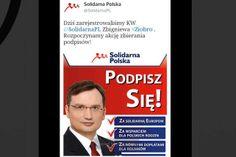 """Solidarna Polska  """"Podpisz sięza solidarną Europom"""""""