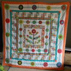 """finished my 2nd quilt. pattern from """"Material Obsession 2"""""""