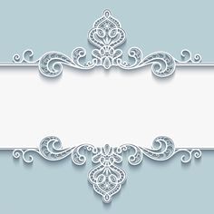 Paper floral invitation card vector set 02