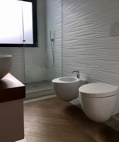 Lungotevere : Bagno in stile in stile Moderno di Massimiliano Favalli