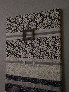 Fabric wall mail organizer mail sorter Navy by OneHairCreations,