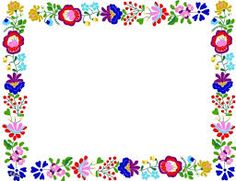 oldal (sk is) Polish Embroidery, Folk Embroidery, Picture Borders, Mexican Pattern, Shade Card, Boarders And Frames, Printable Frames, Doodle Frames, Bunny Crafts