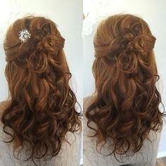 Half up half down wedding hair❤