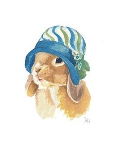 Rabbit Watercolor - Original Painting, Lop-Earred Bunny,... review   buy, shop with friends, sale   Kaboodle