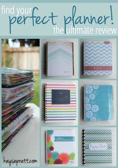The Ultimate Planner Review. This is a review of 6 different planners, with pros and cons of each, and tips for using them. This is great for busy stay at home moms who are trying to balance homemaking, kids, and work from home responsibilities.