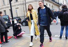 Calvin Klein coat and JW Anderson bag (left)