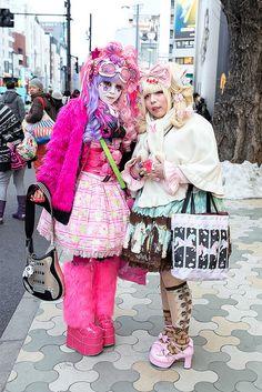 Mekiru & Minami | Shiro-Nuri / shironuri subculture | 13 February 2014 | #couples #Fashion #Harajuku (原宿) #Shibuya (渋谷) #Tokyo (東京) #Japan (日本)