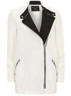 Ivory long zip biker jacket - Jackets & Coats  - Clothing