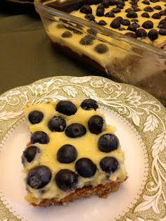 Feeding Ger Sasser: Paleo Blueberry Lemon Bars