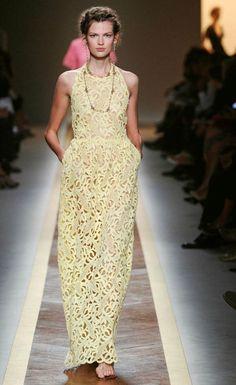 Yellow Lace Dress  Valentino S/S/ 2012