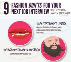 9 Fashion Don'ts for Your Next Job Interview For more interview tips, visit www.halliecrawford.com.