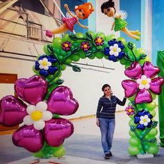 Whoa Balloon Backdrop, Balloon Decorations Party, Balloon Columns, Balloon Wall, Party Props, Baby Shower Decorations, Balloons, Mickey First Birthday, Jungle Theme Birthday