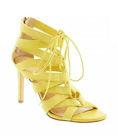 Banana Republic Laney Lace-Up Sandal in a Yellow: Outfits, Lace Up Sandals