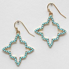 Lennon Earrings in Blue Aspen